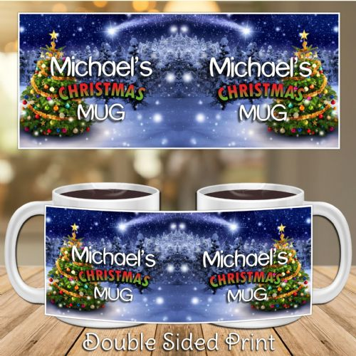 Personalised Happy Christmas Xmas Novelty Gift Mug N41
